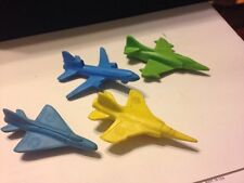 1982 McDonald's Happy Meal Sky Busters Mirage Mig Skyhawk DC-10 Erasers Matchbox