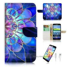 Samsung Galaxy S5 Flip Wallet Case Cover! S8274 Abstract