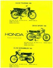 Honda CA160 CB160 CL160 Motorcycle Parts Manual - 800-426-4214