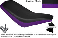 BLACK & PURPLE CUSTOM FITS KAZUMA FALCON 110 150 250 ATV QUAD LEATHER SEAT COVER