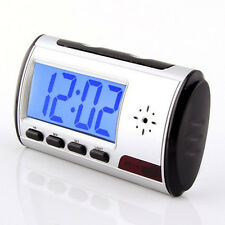 wireless Table Alarm Clock Hidden Camera spy DVR Recorder Remote motion