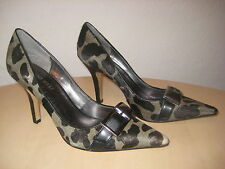 Nine West Shoes Size 5.5 M New Womens Bell Town Olive Black Leopard Pumps NWOB