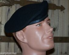 Beret Black Wool Army NEW Genuine Issue 7 1/4 Military Infantry Made in USA P38