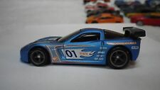 2009 Hot Wheels Matte Blue Corvette C6R Custom Real Riders