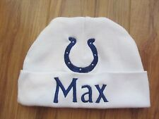 PERSONALIZED MONOGRAM CUSTOM Baby Beanie Hat Cap Indianapolis Football