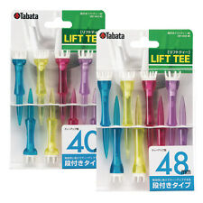 New Tabata Stepped Lift Tee 40mm, Multicolor 8Tees/pack Made in Japan, GV1412 40