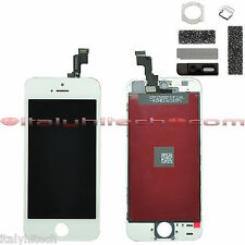 LCD DISPLAY RETINA IPHONE 5S BIANCO ORIGINAL APPLE TOUCH SCREEN VETRO TESTATI