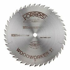 Forrest WW10407125 Woodworker II 10-Inch 40 Tooth ATB .125 Kerf Saw Blade with 5