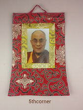 Buddhist H.H Dalai Lama Photo Thangka Yoga Om Wall Hanging Thanka Handmade Nepal
