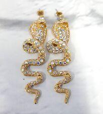 Glitssssyyyyy: Anton Heunis Crystal Articulated Rattle Snake Earrings New w/Bag