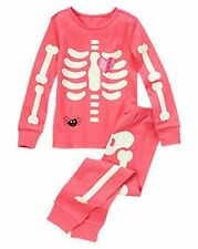 NWT Gymboree SKELETON Halloween Costume 2013 Pajamas/Gymmies Glow-In-The-Dark