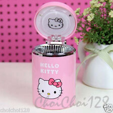 NEW Hello Kitty Pink Ashtray with LED light Car Accessories HT32