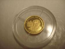 2003  .999 GOLD  $25  LIBERIA  PROOF GOLD COIN  W/COA, .73 GRAMS