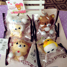 San-X Brown White Sheep Rilakkuma Vanilla KIIROITORI Squishy Phone Strap