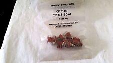 WALDOM MOLEX 22-05-3041  4 POS R/A FRICTION LOCK HEADER .100 PIT BAGS 10PC