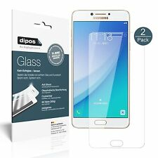 2x Samsung Galaxy C7 Pro Screen Protector Flexible Glass 9H dipos