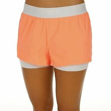 NIKE DRI FIT JUST DO IT 2 IN 1 SHORTS SIZE MEDIUM PEACH WHITE tennis circuit