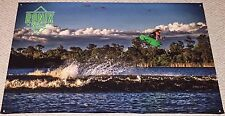 """RONIX PARKS GREEN BANNER NEW! 48"""" * 30"""" 2 Free Ronix Wakeboard Stickers Decal"""