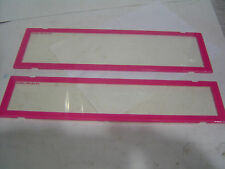 QLD/ACT/VIC Slimline/Premuim Pink Number Plate Covers Clear Perspex Sent Regist