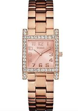 Guess Watch * U0128L3 Crystal Rose Gold Steel Square Dial for Women COD PayPal