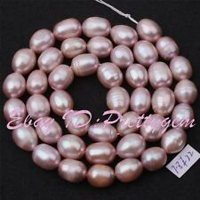 7-8mm Natural Purple Oval Freshwater Pearl Gemstone Spacer Beads Strand 15""
