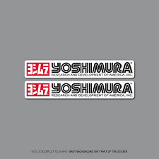 SKU2413 - 2 x Yoshimura Exhausts - Suzuki -  Decals - Stickers - 150mm x 24mm