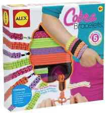Little Girls Arts And Crafts Cobra Bracelets Jewelry Making Colorful Friends New