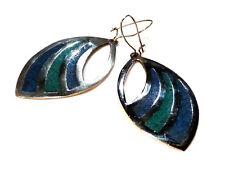 Bijou argent 925 boucles d'oreilles émaillées Mexico  earrings