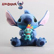 """New Hot Lilo & Stitch Holiding Scrump Soft Plush Toys Stuffed Dolls 10"""" Teddy"""