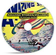 Amazing Stories Vol 1, 76 Classic Pulp Magazine, Fiction, Hugo Gernsbeck DVD C31