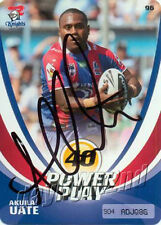 ✺Signed✺ 2013 NEWCASTLE KNIGHTS NRL Card AKUILA UATE Power Play