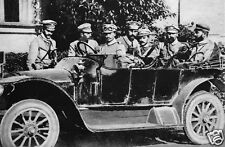 "Polish Army Officers in Staff Car Kielce 1914 World War 1 6x4"" Reprint Photo 1"