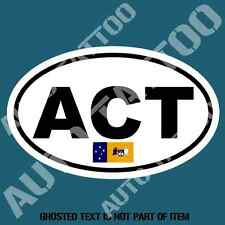 ACT CANBERRA VEHICLE CODE DECAL STICKER TRUCK RALLY EURO STYLE DECLS STICKERS