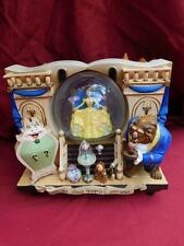 RARE DISNEY BEAUTY & THE BEAST STORYBOOK MUSIC SNOW GLOBE RETIRED