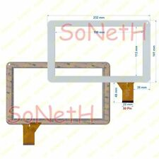 """Vetro Touch screen Digitizer 9,0"""" Xtreme A13-MID Tablet PC Bianco"""