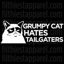 "GRUMPY CAT ""Hates Tailgaters"" Meme Funny Angry Cat Vinyl Decal Sticker"