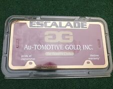 Genuine GM Licensed Cadillac Escalade Gold OEM Factory Metal LICENSE PLATE FRAME
