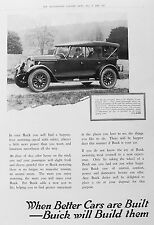 OLD VINTAGE ADVERT BUICK MOTOR CAR c1927 MAJESTIC TOURER CLASSIC VEHICLE