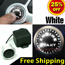 UNIVERSAL Fit PUSH START BUTTON KIT, 12V Ignition ENGINE Starter with WHITE LEDs