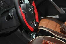 "New 14.5"" Black & Red Steering Wheel Cover Wrap PVC Leather 47019 Sew On Kit"