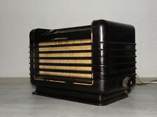 tsf valve art deco radio philips bf 281 u vintage old tube lamp antique bakelite