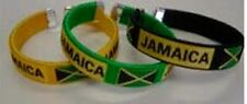 Jamaica Flag Bangle/Bracelets Black Green or Yellow (One Piece)