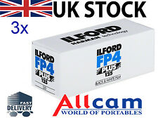 3 Pack: Ilford FP4-125 Professional 120 (3 pack, size 120, ISO 125)