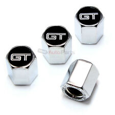 (4) Ford Mustang GT Logo Chrome Tire/Wheel Air Pressure Stem Valve CAPS Covers