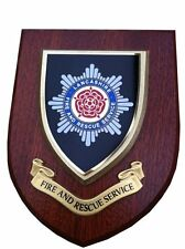 Lancashire Fire & Rescue Service Wall Plaque UK Made for MOD