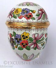 Halcyon Days Enamels Pansies Violas Flowers Enamel Egg