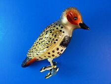 Northern Flicker Bird Old World Christmas Ornament Glass Tree Animal NWT 18076