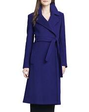 """$795 Diane von Furstenberg Wool blend """"Michaelle"""" wrap coat NWT cobalt blue sz4"""