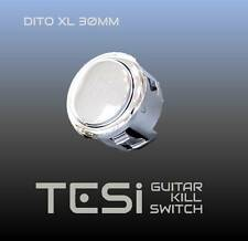 Tesi DITO XL Snap-in 30MM Guitar Arcade Button Kill Switch Chrome