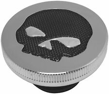 Bikers Choice Gas Cap with Skull Screen - Vented - Chrome 77191B2